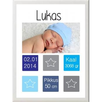 Pilt lapse foto ning sünniandmetega